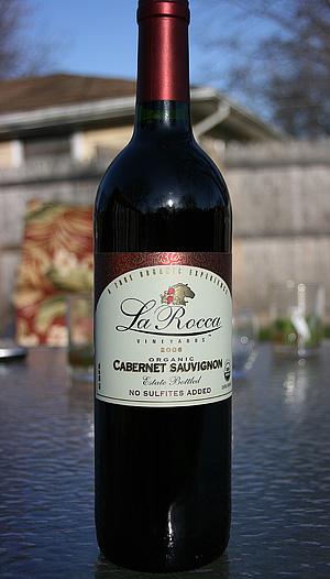 Organic Sulfite Free Wine Review, La Rocca Cabernet Sauvignon & La Rocca