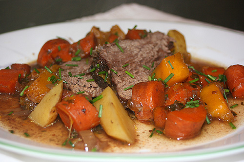Image result for pot roast and potatoes