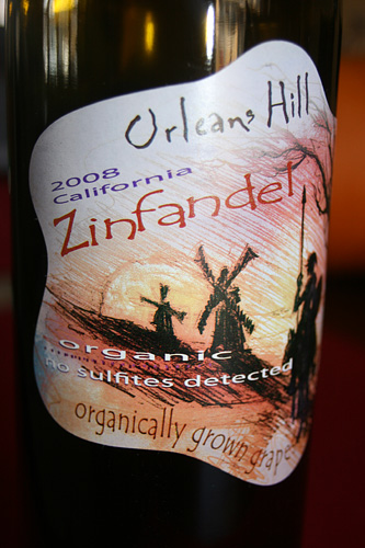Orleans Hill Zinfandel Organic and Sulfite Free Wine