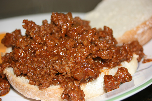 sloppy joe recipe. Just look at that Sloppy Joe